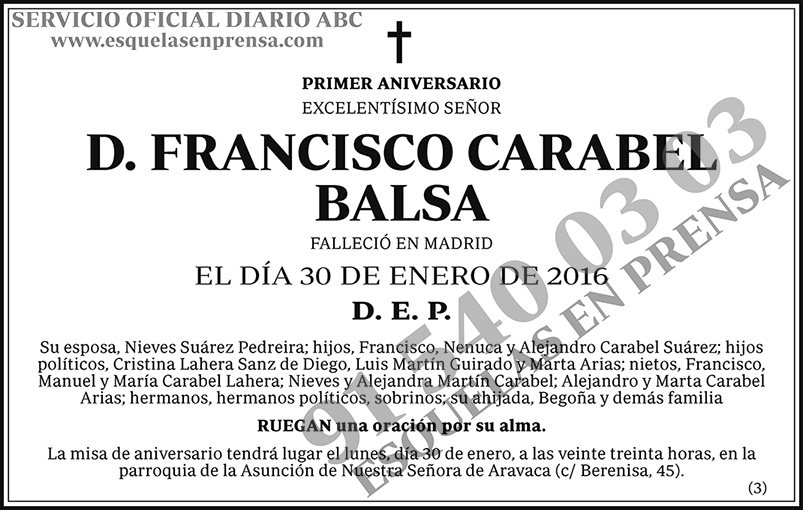 Francisco Carabel Balsa